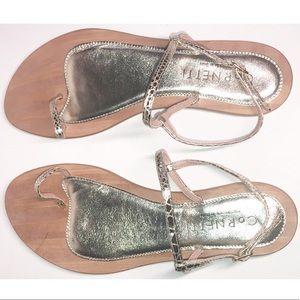 CORNETTI Gold Toe Loop & Ankle Strap Sandals NWOB